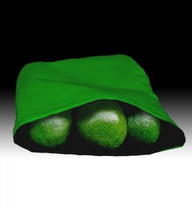 Avocado Ripening Pouch Solid Green Filled